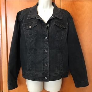 Chico's black jean jacket